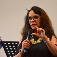 Linda answering questions from the audience Sunday Seminar with Linda Burney - Feb 2017 Australia