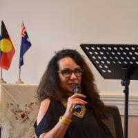 Linda addressing the audience Sunday Seminar with Linda Burney - Feb 2017 Australia