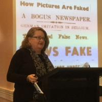 Dr Margaret Van Heekeren at the May 2017 Sunday Seminar on 'Fake News' - Dr Margaret Van Heekeren